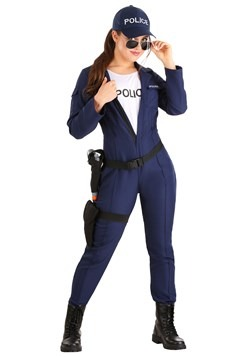 Women's Plus Size Tactical Cop Jumpsuit Costume
