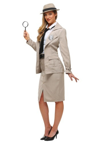 Adult Miss Private Eye Plus Size Costume