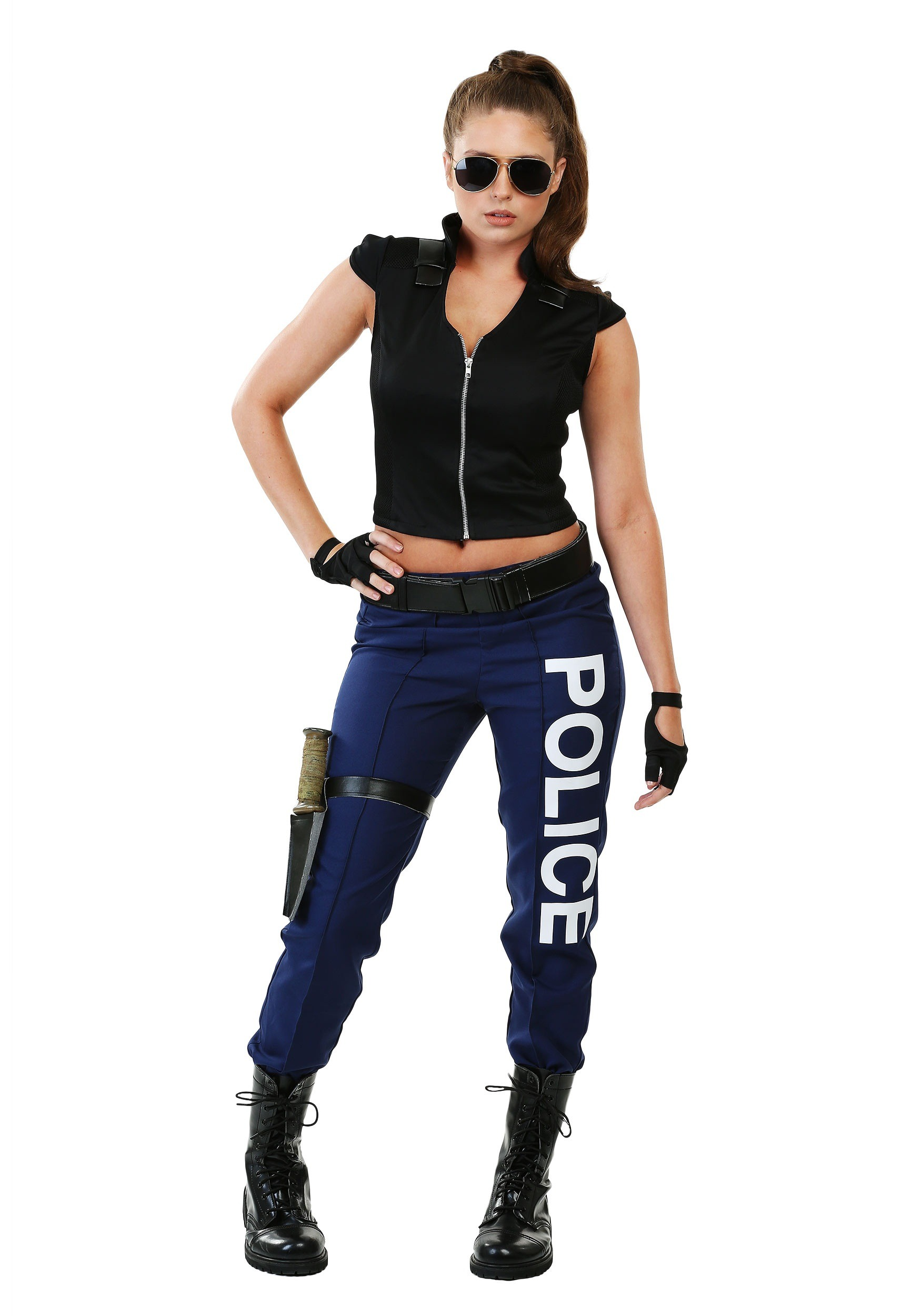 Womens Tactical Police Plus Size Costume-8981