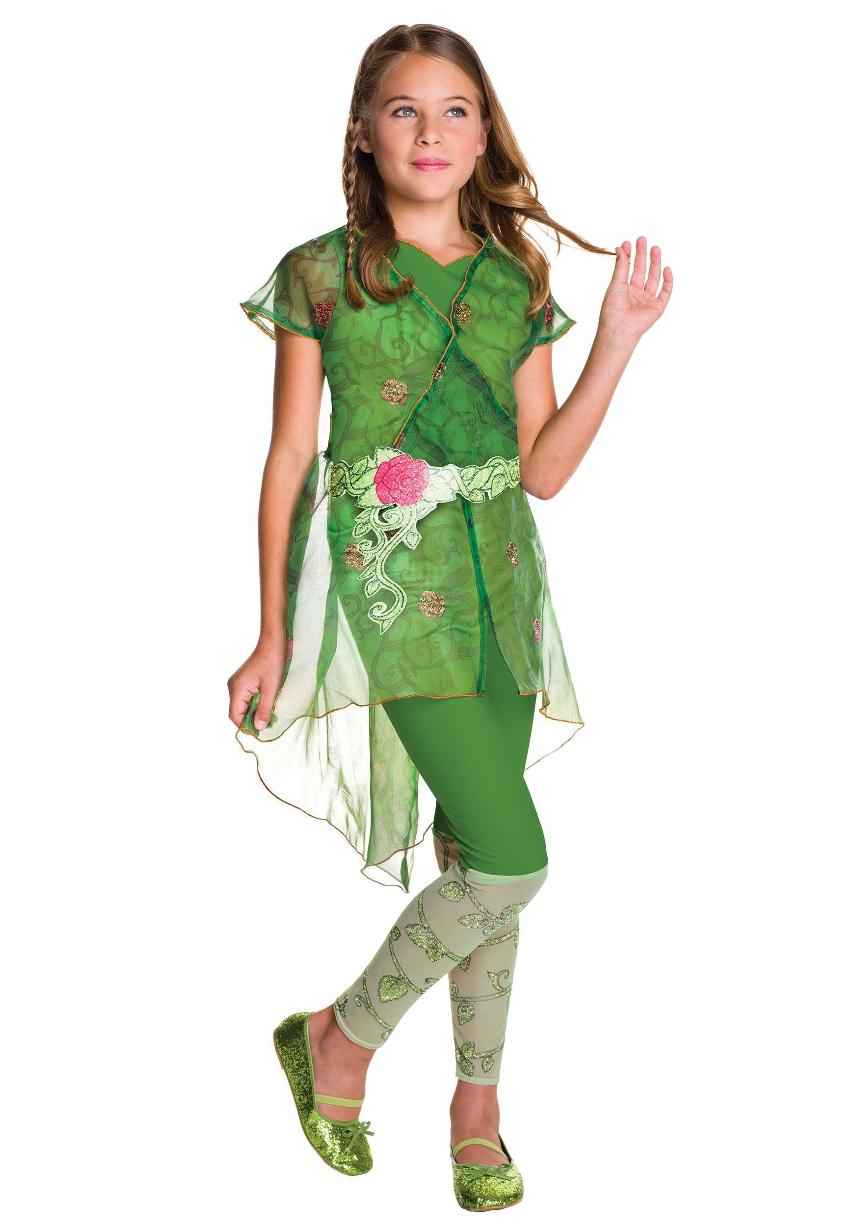 DC Superhero Girls Poison Ivy Deluxe Costume  sc 1 st  Halloween Costumes UK : poison ivy character costume  - Germanpascual.Com