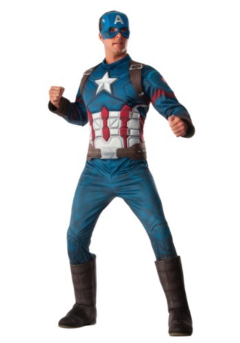 Men's Deluxe Civil War Captain America Costume