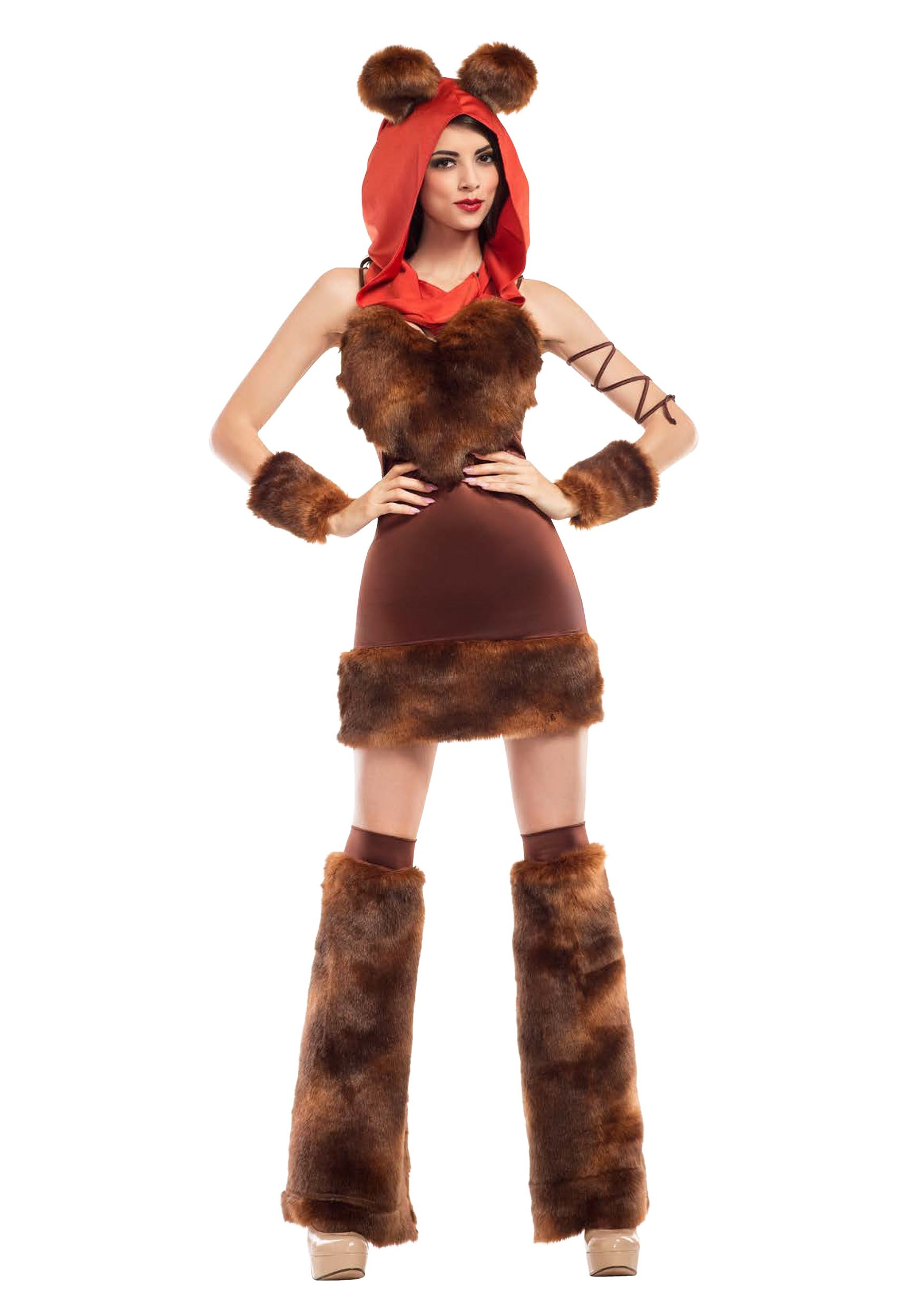 Women's Cute Furry Space Creature Fancy Dress Costume