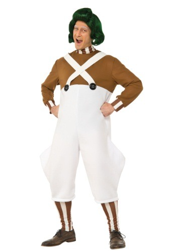 Mens Deluxe Oompa Loompa Costume