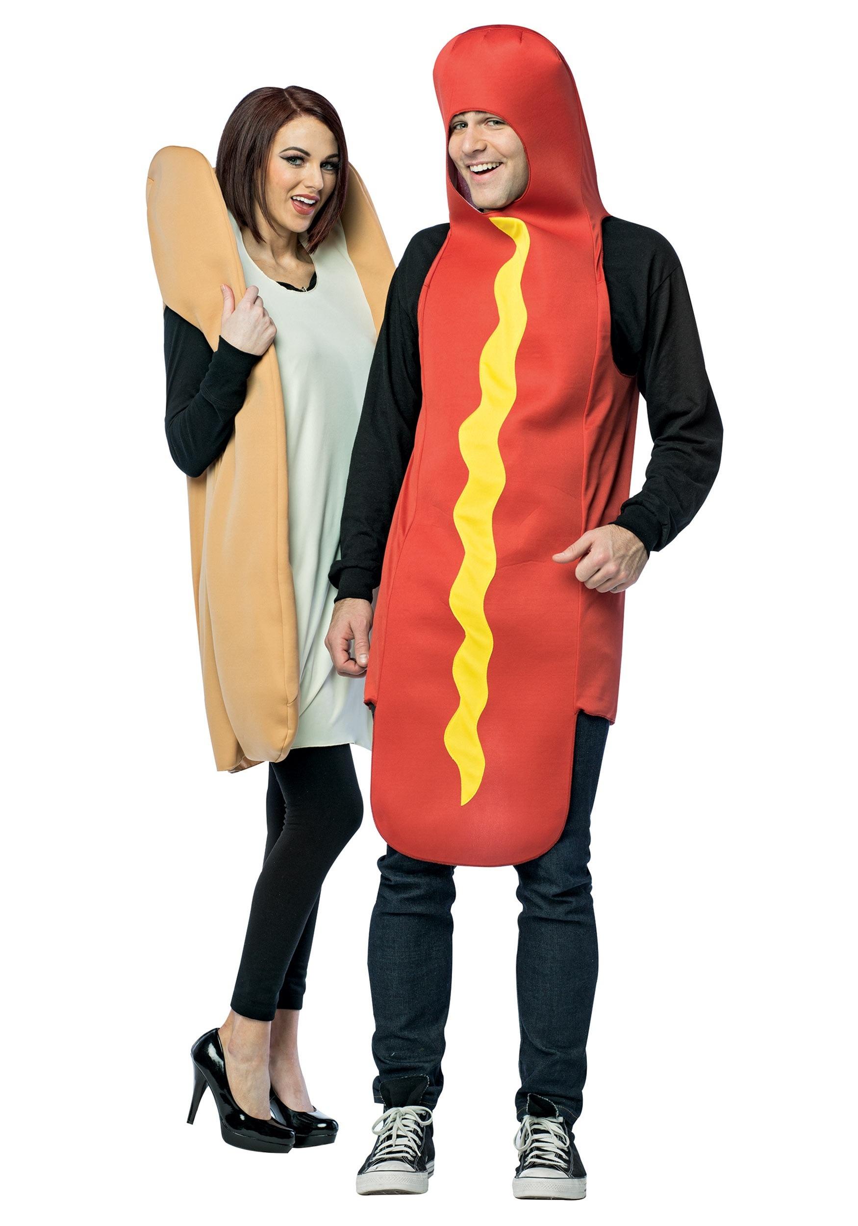 Hot Dog And Bun Couple Costume