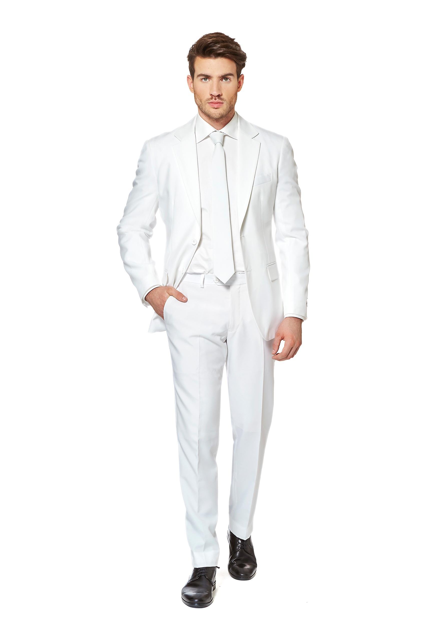 Men S White Knight Suit