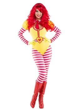 Sexy Hamburger Clown Costume