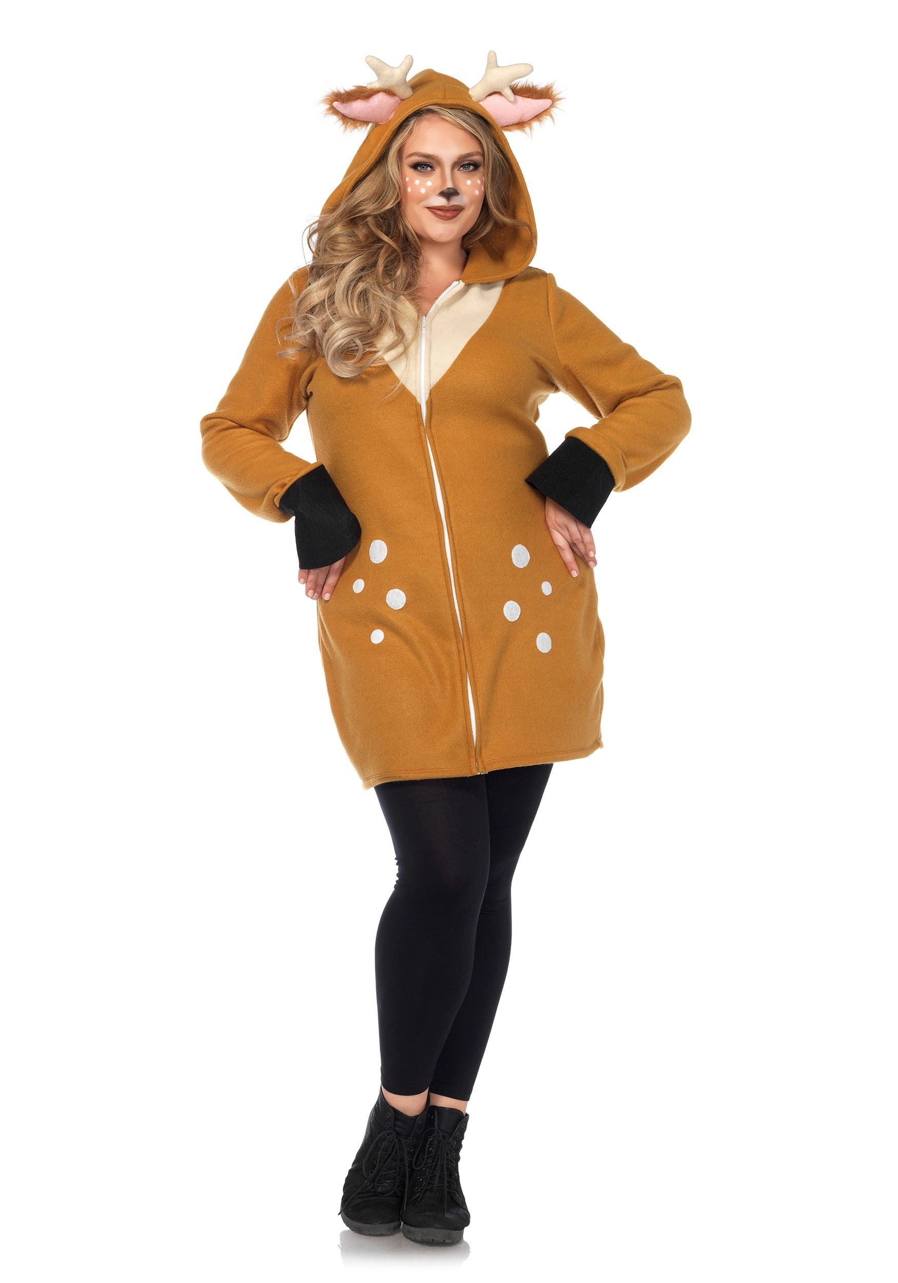 Plus Size Cozy Fawn Costume  sc 1 st  Halloween Costumes UK : pocahontas plus size costume  - Germanpascual.Com