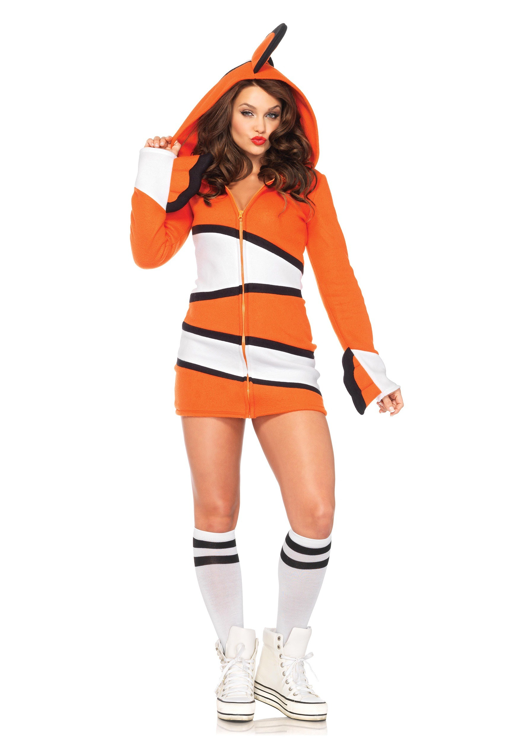 Adult cozy clownfish costume for Sexy fish costume
