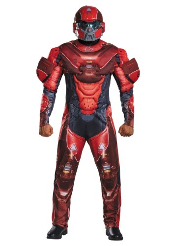 Adult Red Spartan Muscle Chest Costume