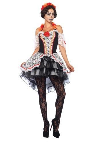 Women's Sugar Skull Senorita Costume