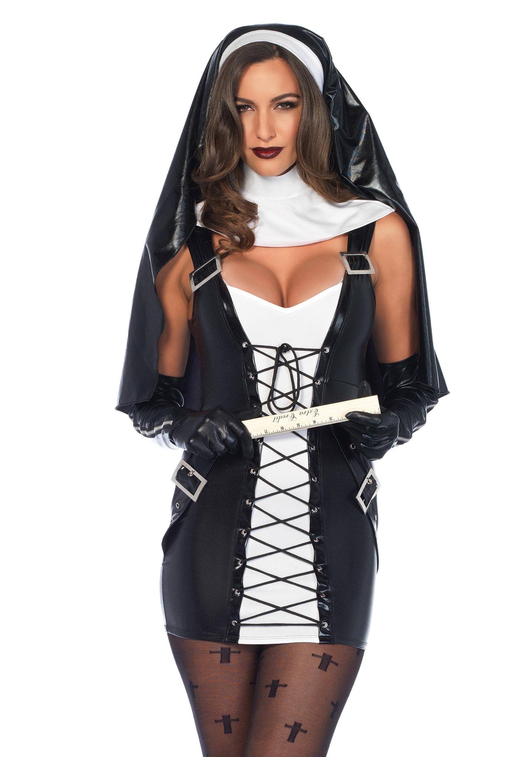 Womens Naughty Nun Costume-5586