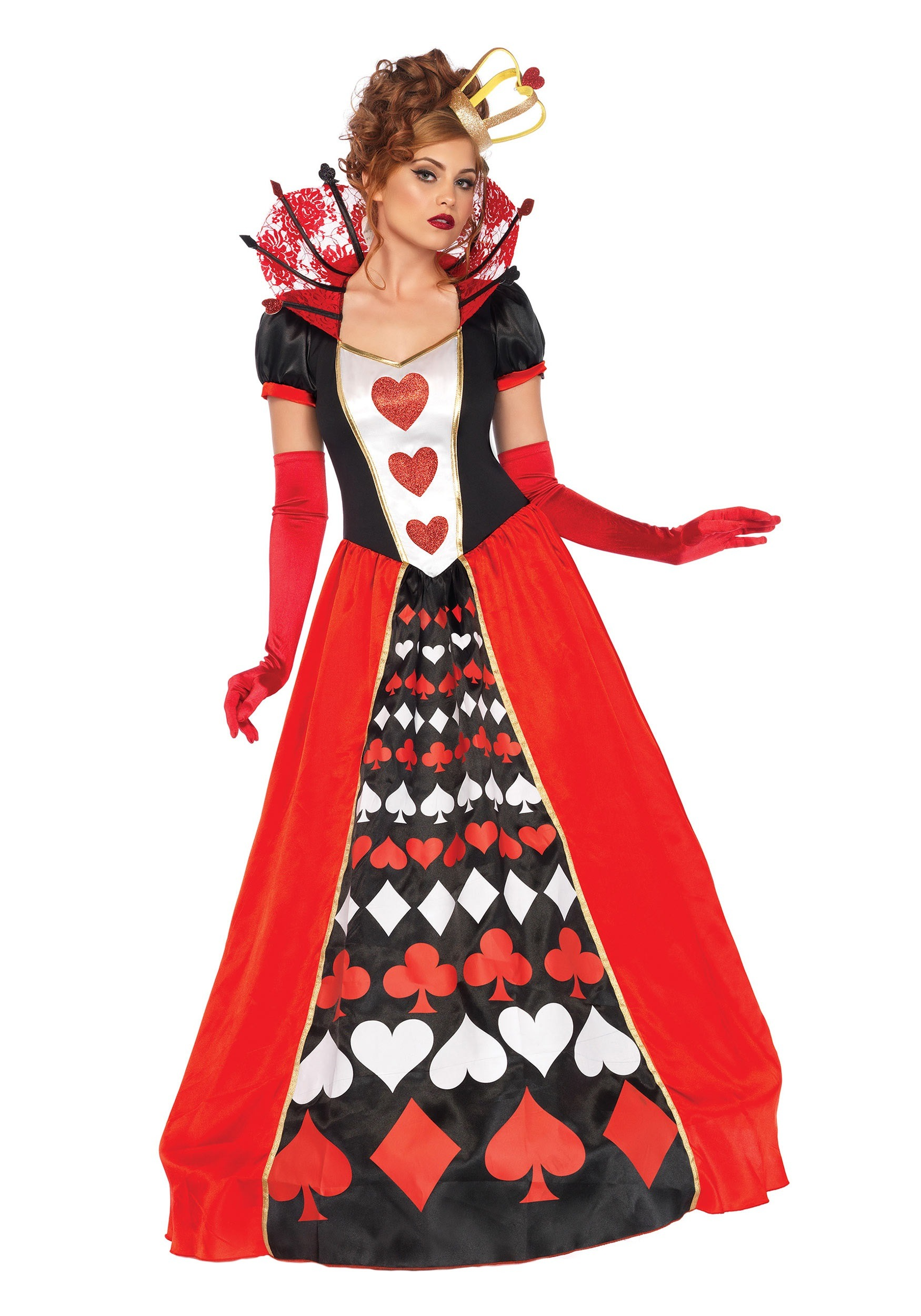 womens deluxe queen of hearts costume