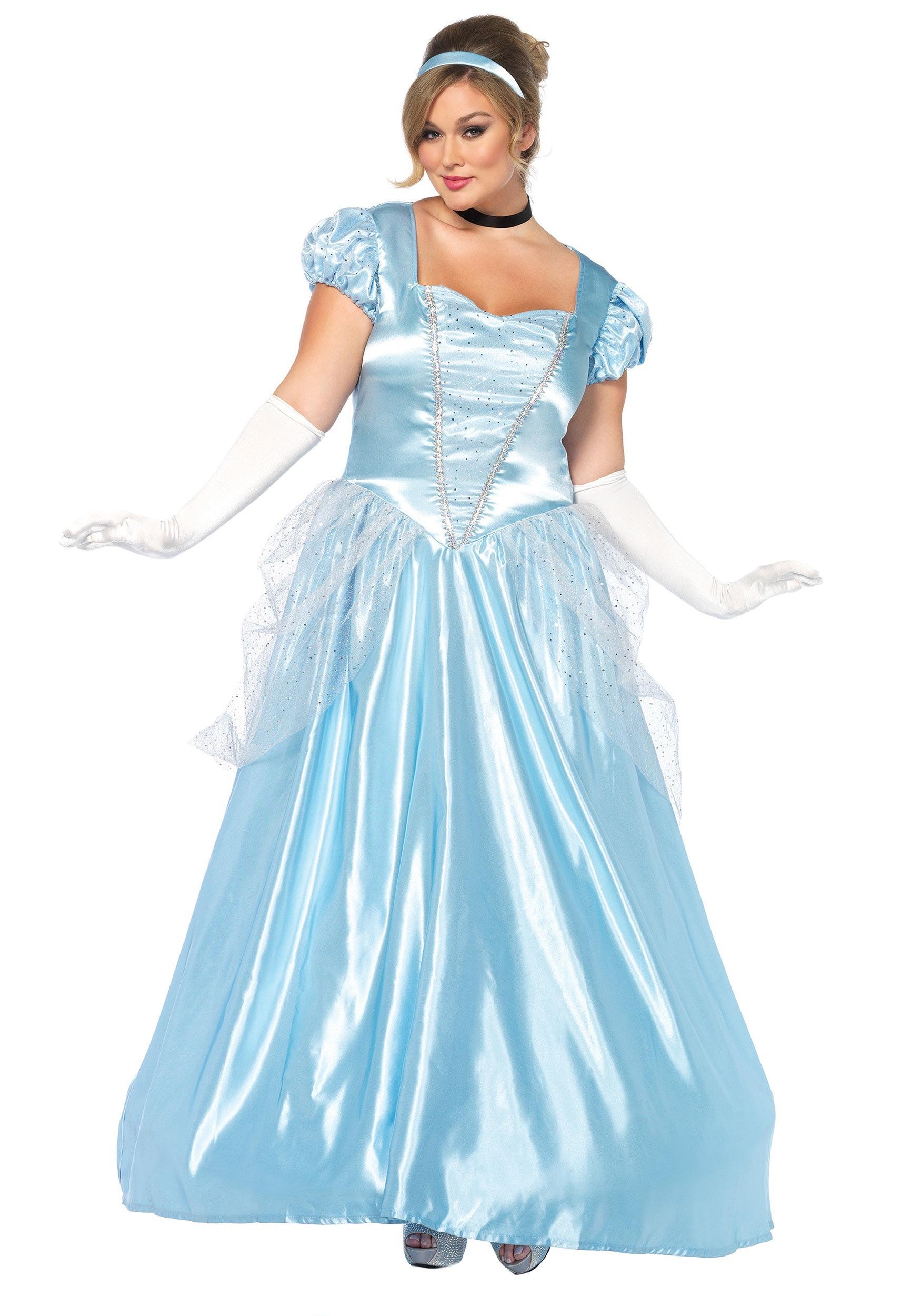 sc 1 st  Halloween Costumes UK & Plus Size Cinderella Classic Costume