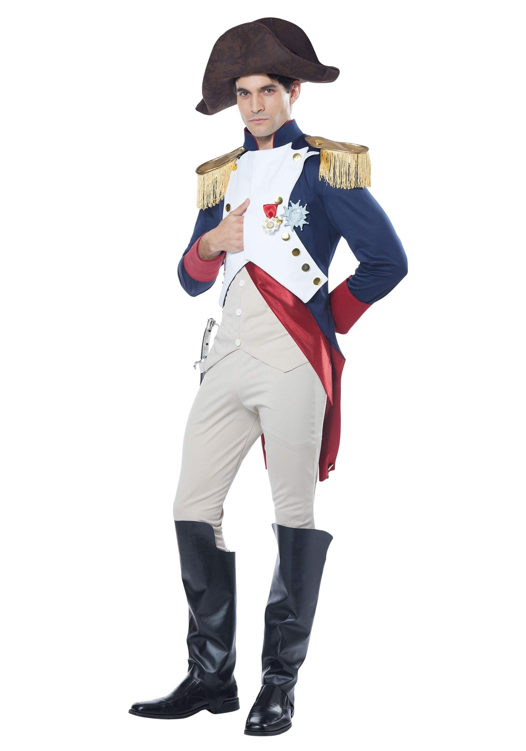 Menu0027s Adult Napoleon Costume  sc 1 st  Halloween Costumes UK & Colonial Costumes - Adult Child Colonial Costumes