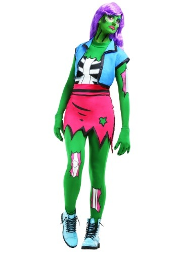 Womens Pop Art Zombie Costume