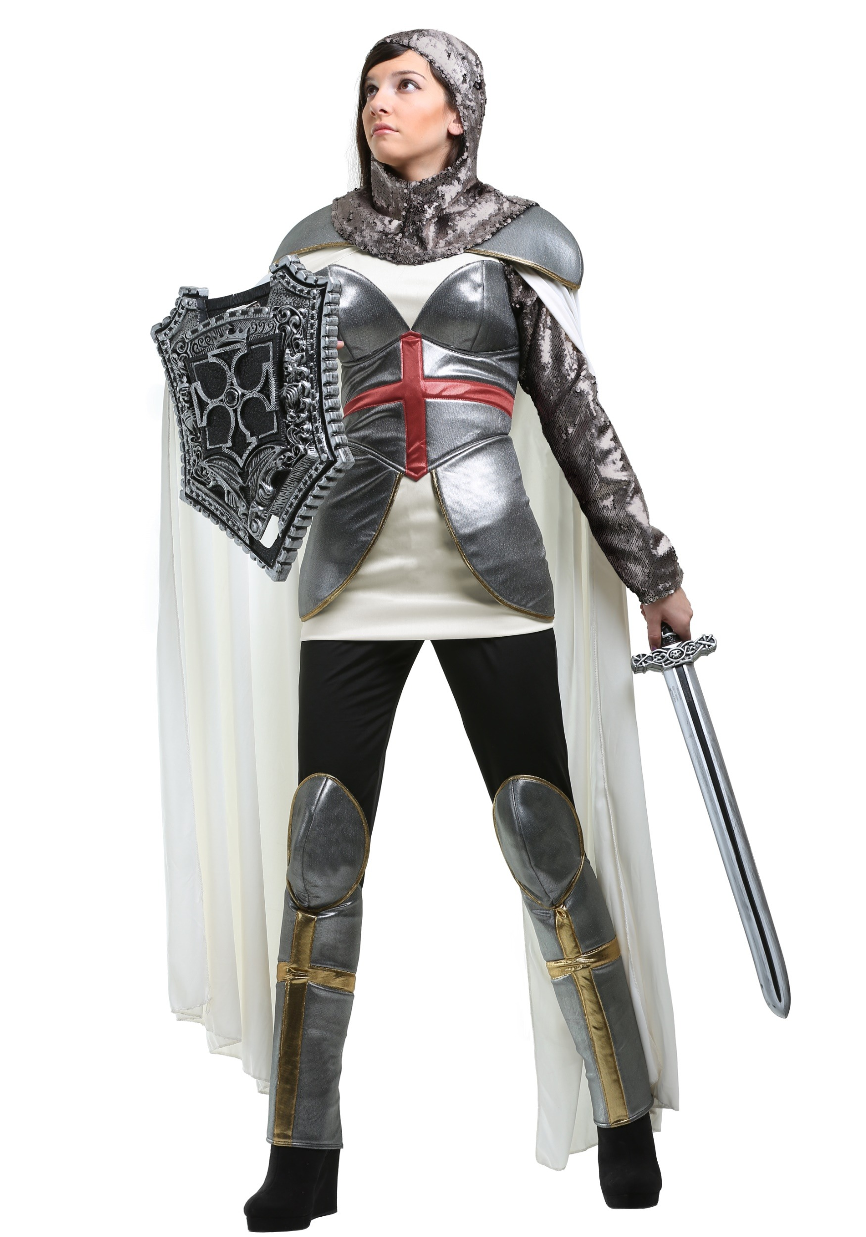 Womenu0027s Joan of Arc  sc 1 st  Halloween Costumes UK : female knight costumes  - Germanpascual.Com