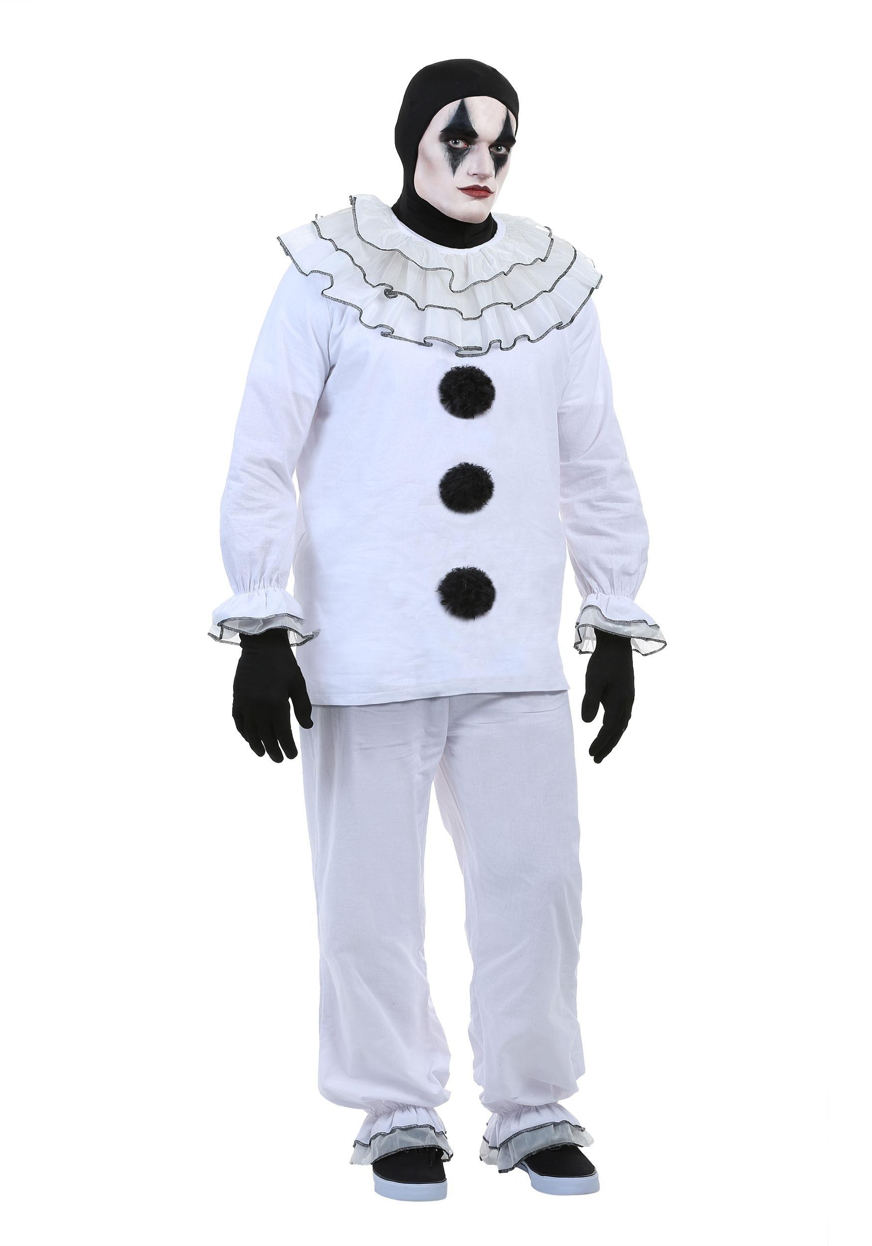Men S Vintage Pierrot Clown Costume