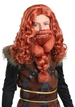 Kids Red Viking Wig and Beard Set