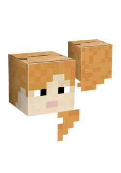 Minecraft Alex Cardboard Head