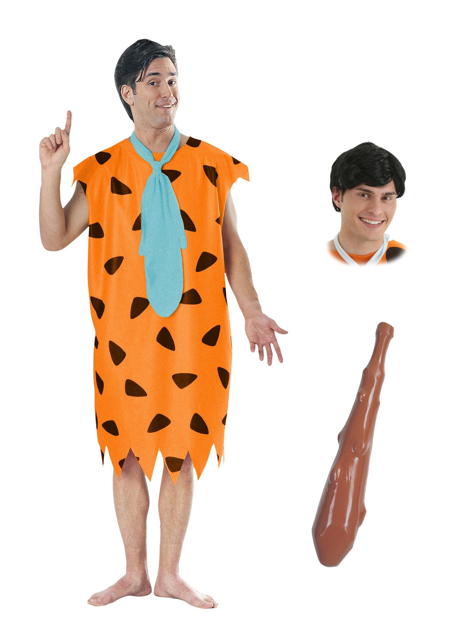 SALE Adult Licensed 70s TV Flintstones Fred Flintstone Mens Fancy Dress Costume
