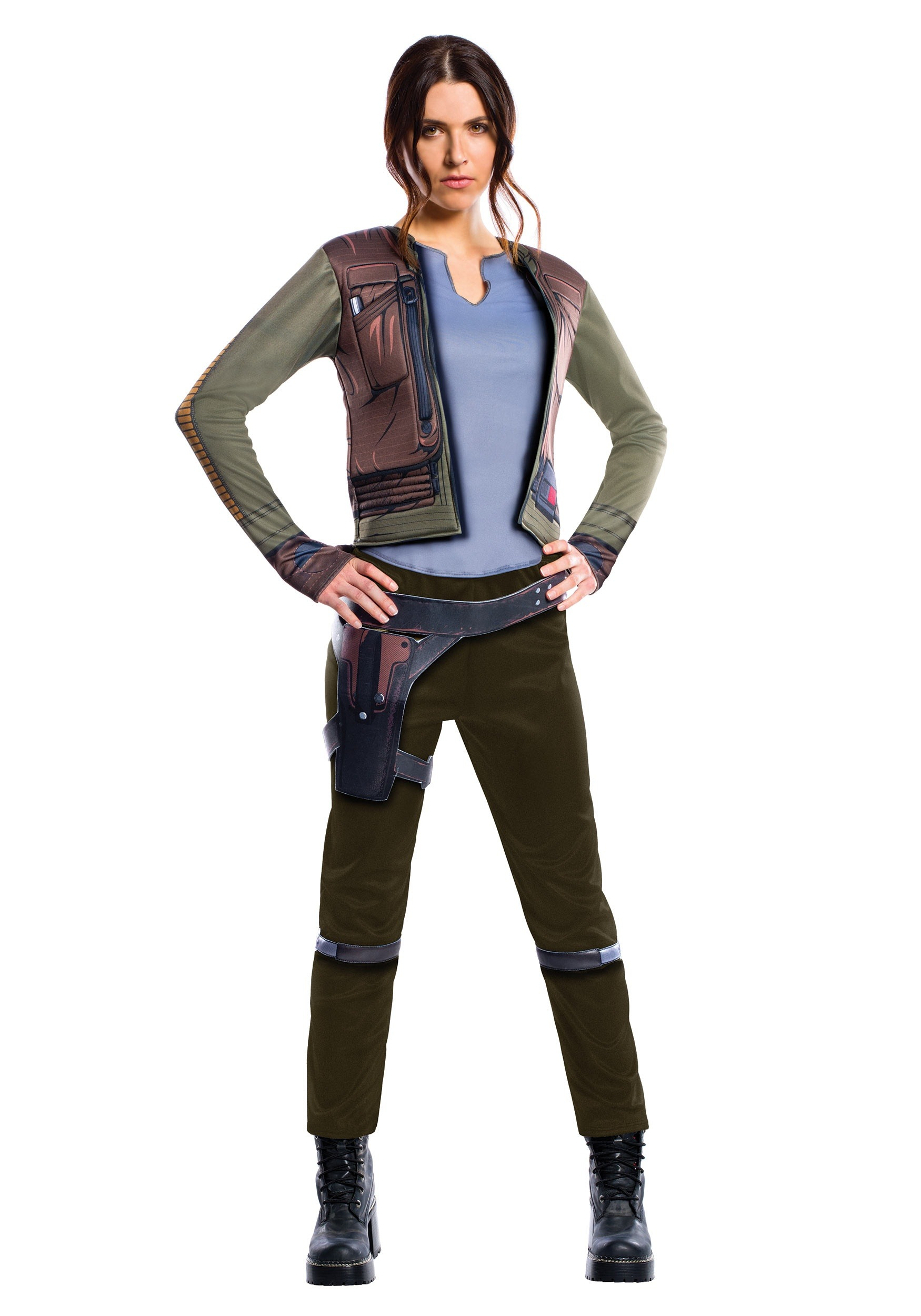women 39 s adult deluxe jyn erso costume from star wars rogue one. Black Bedroom Furniture Sets. Home Design Ideas