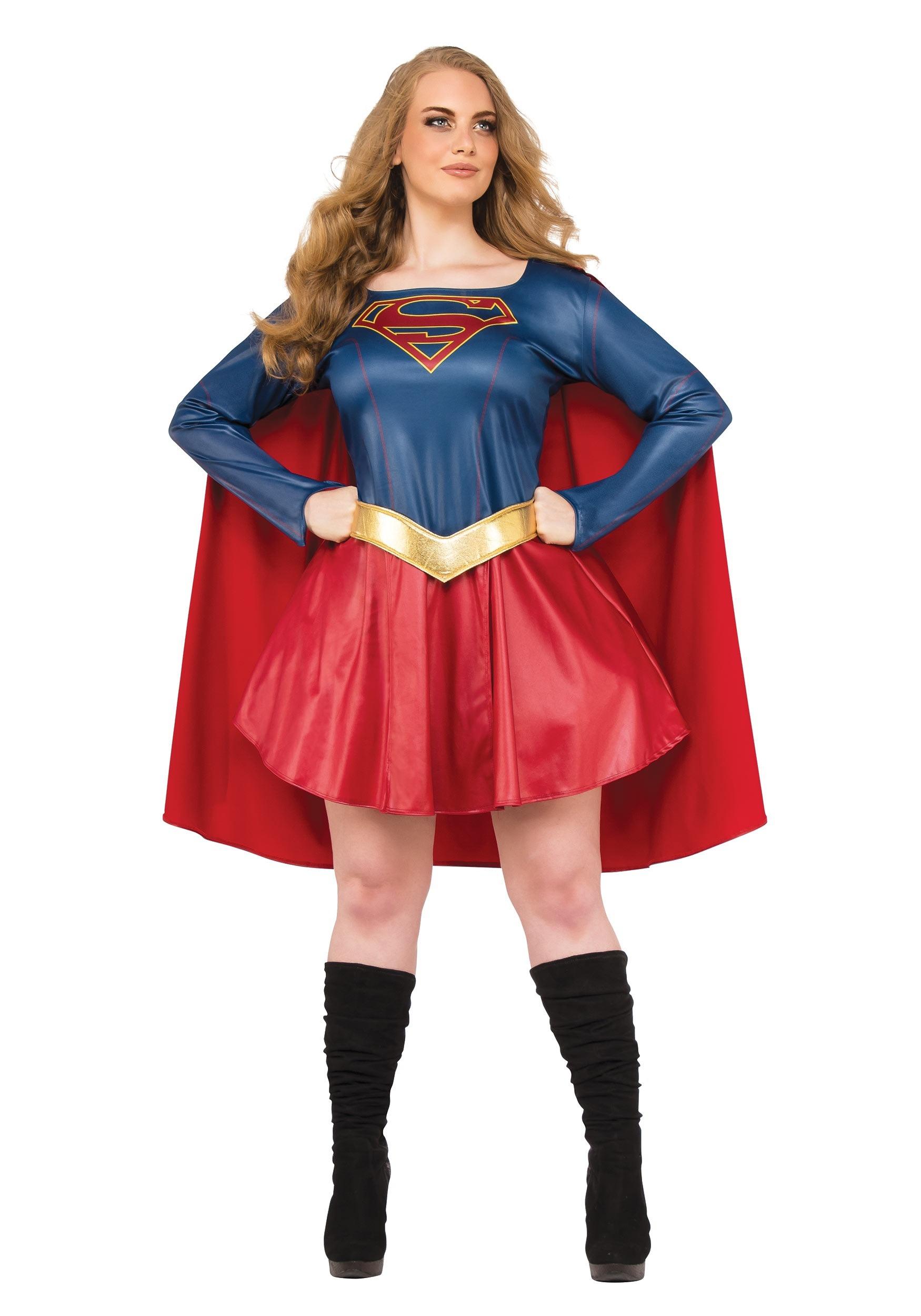 Plus Size Supergirl Tv Costume For Women-4837