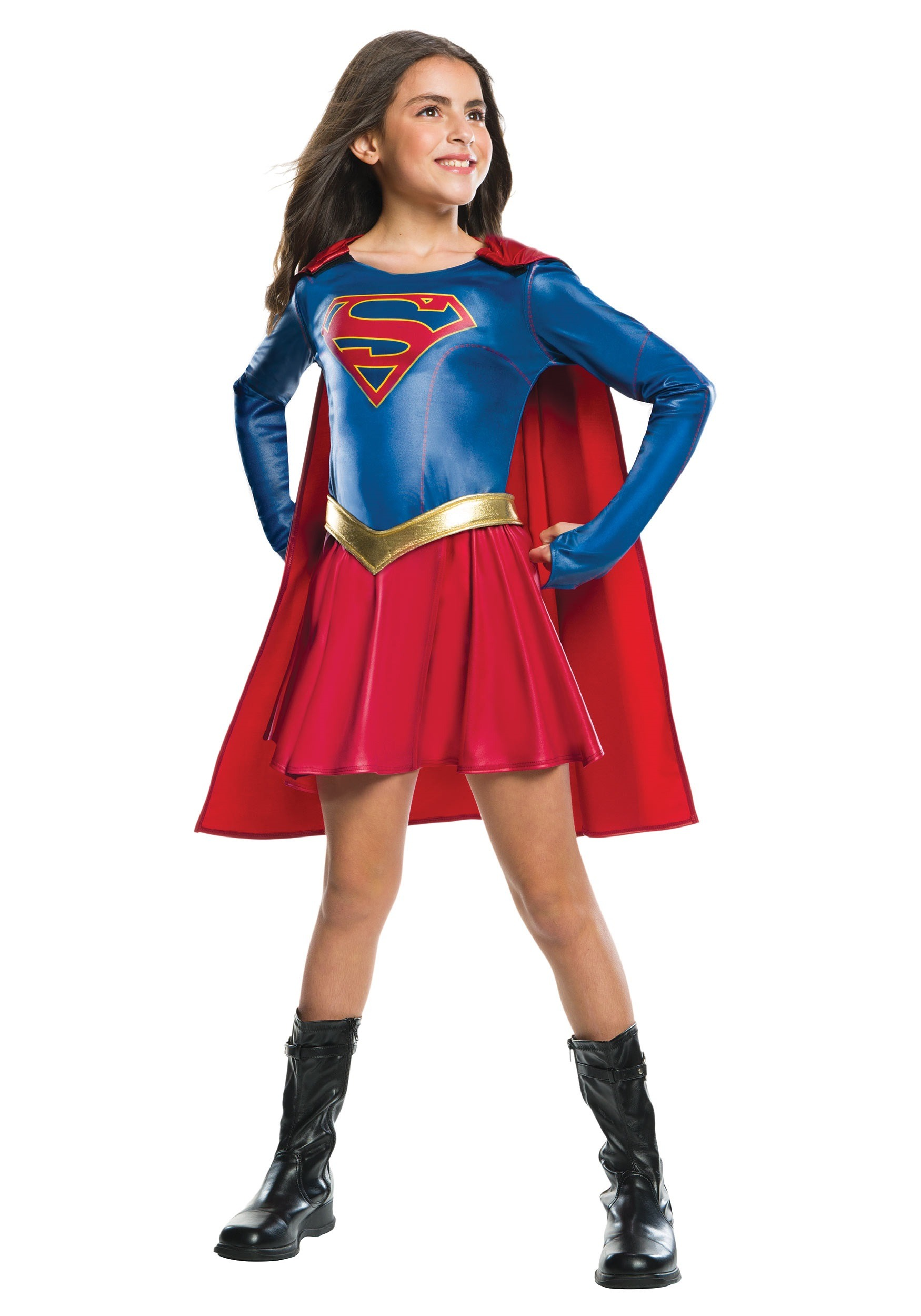 Girls Supergirl Tv Costume-3597