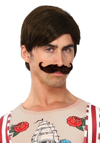 Men's Strongman Wig and Mustache