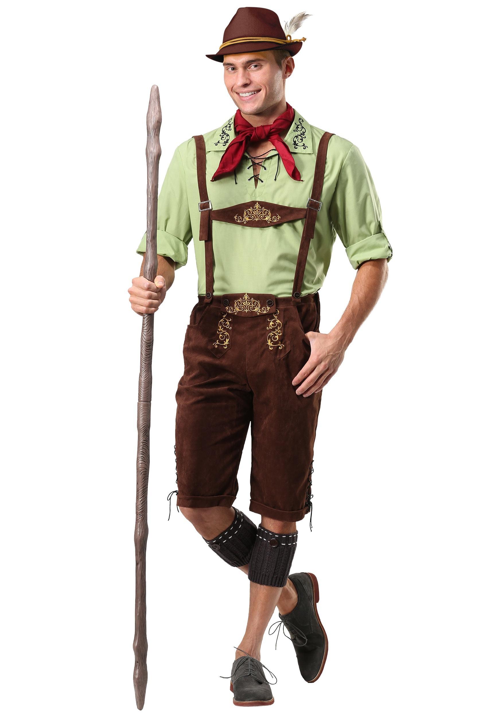 Menu0027s Alpine Lederhosen Costume  sc 1 st  Halloween Costumes UK & Alpine Lederhosen Costume for Men