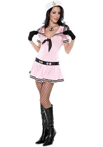 Sexy Pink Sailor Costume