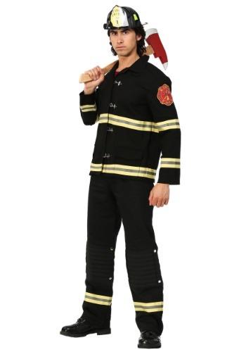 Black Uniform Firefighter Mens Costume