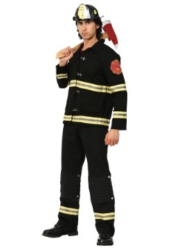 Black Uniform Firefighter Mens Costume