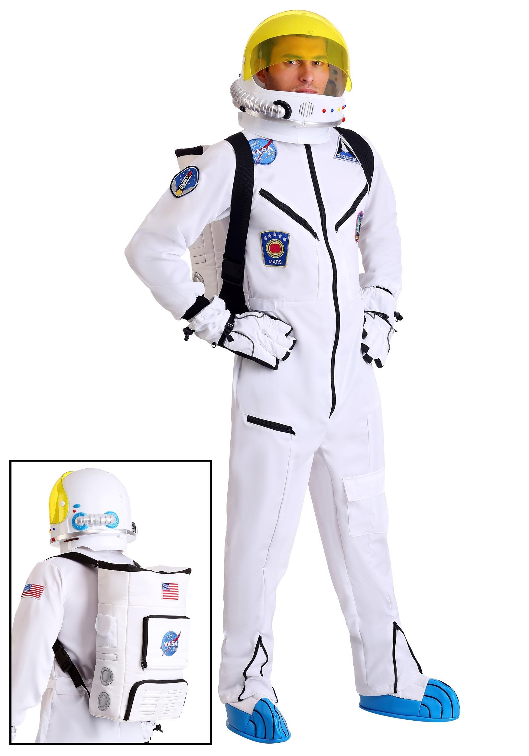 7a9ed7b48 White Astronaut Jumpsuit Adult Costume