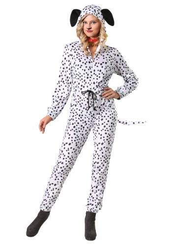Women's Cozy Dalmatian Jumpsuit