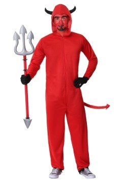 Men's Plus Size Devil Jumpsuit Costume