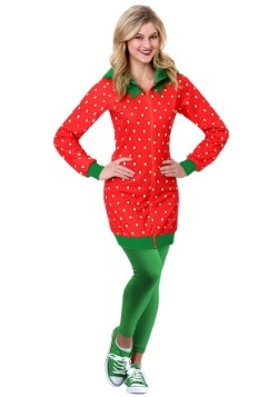 Strawberry Hoodie Dress