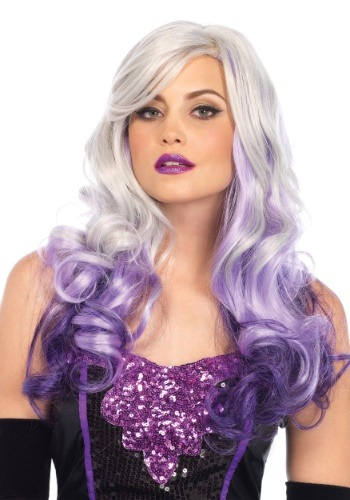 Wavy Grey/Purple Women's Ombre Wig