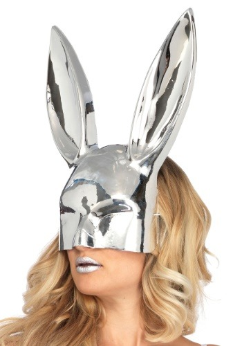 Chrome See Thru Bunny Mask Silver