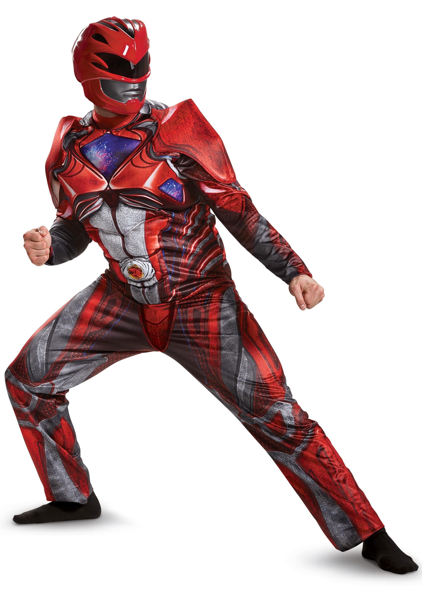 Power Rangers Movie Red Ranger Deluxe Mens Costume  sc 1 st  Halloween Costumes UK & Power Rangers Costumes - Blue Power Ranger Costume