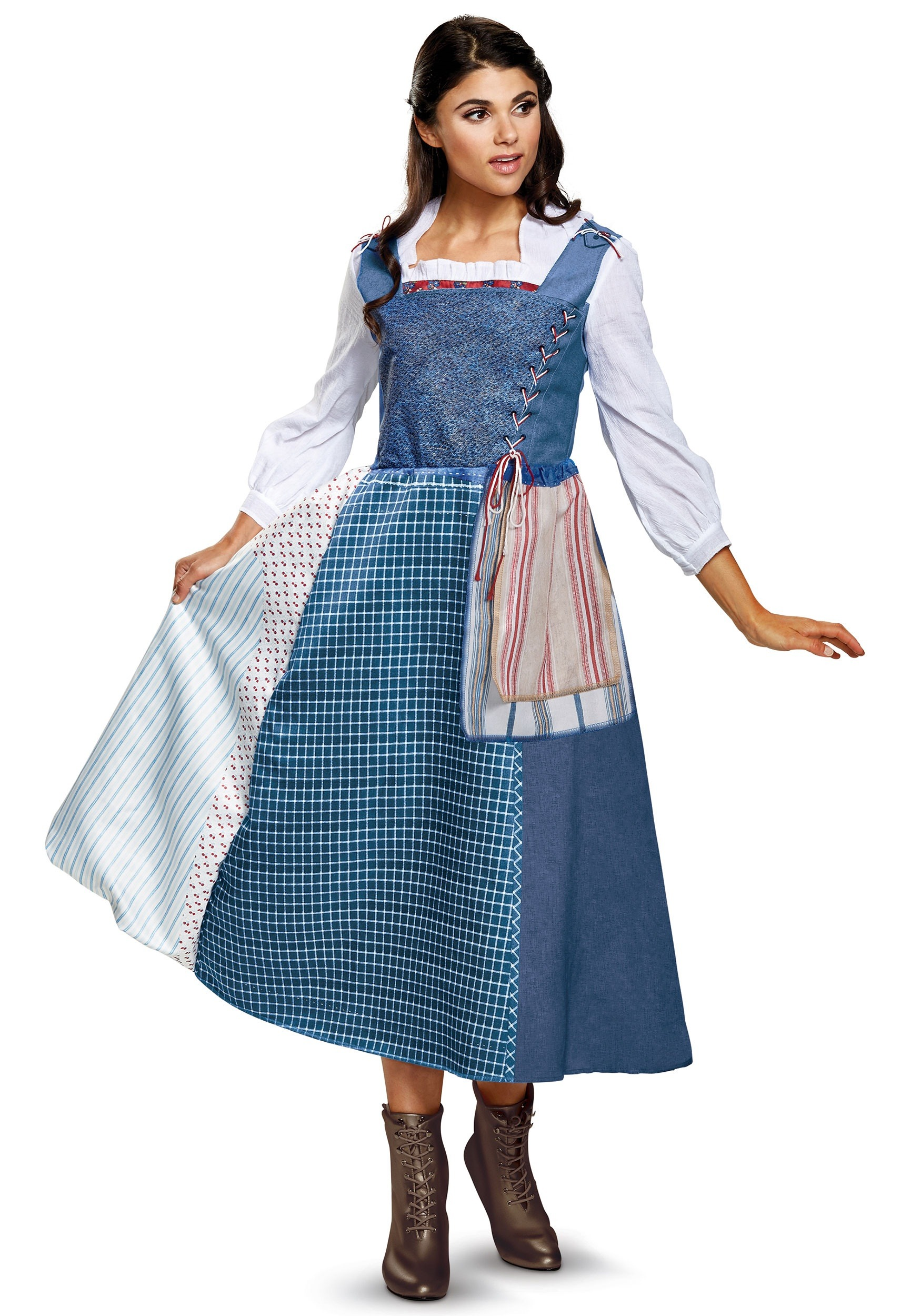 Belle Village Dress Deluxe Womens Costume  sc 1 st  Halloween Costumes UK & Adult Disney Costumes - Sexy Disney Princess Costume