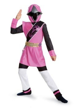 Power Rangers Ninja Steel Pink Ranger Muscle Girls Costume