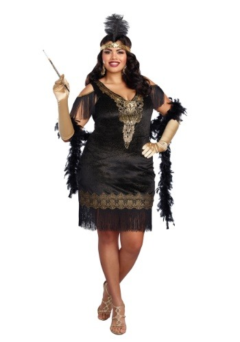 Women's Plus Size Swanky Flapper Costume