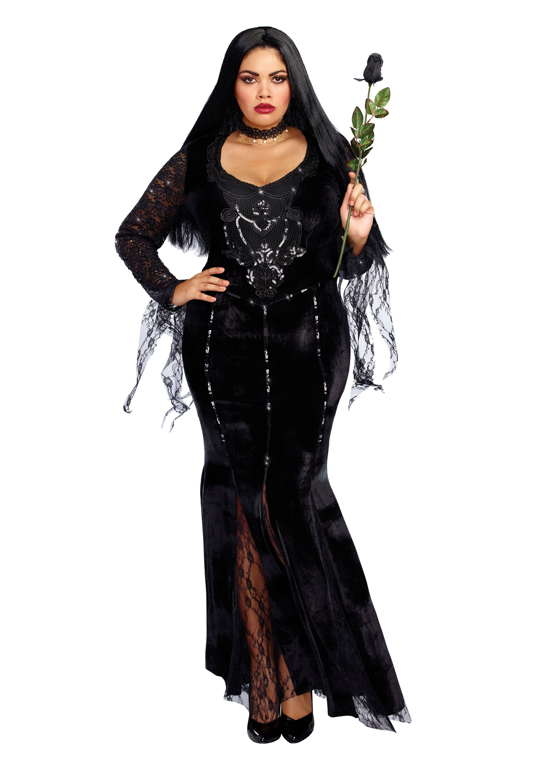 Womenu0027s Mortuary Mama Plus Size Costume  sc 1 st  Halloween Costumes UK & Witch Costumes - Adult Kids Halloween Witch Costume