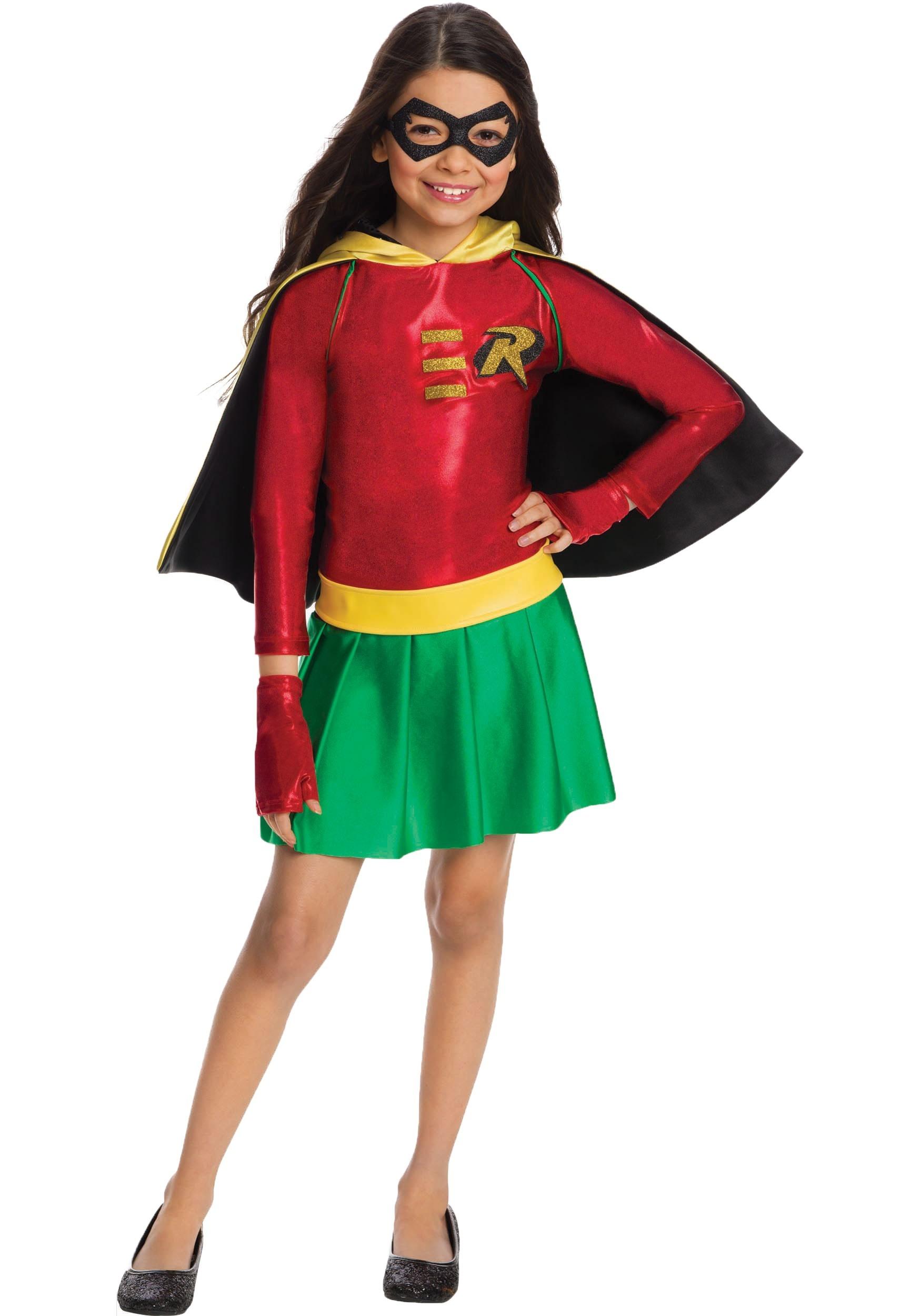 Girls Robin Costume  sc 1 st  Halloween Costumes & Girls Superhero Costumes - Child Teen Girls Superhero Costumes