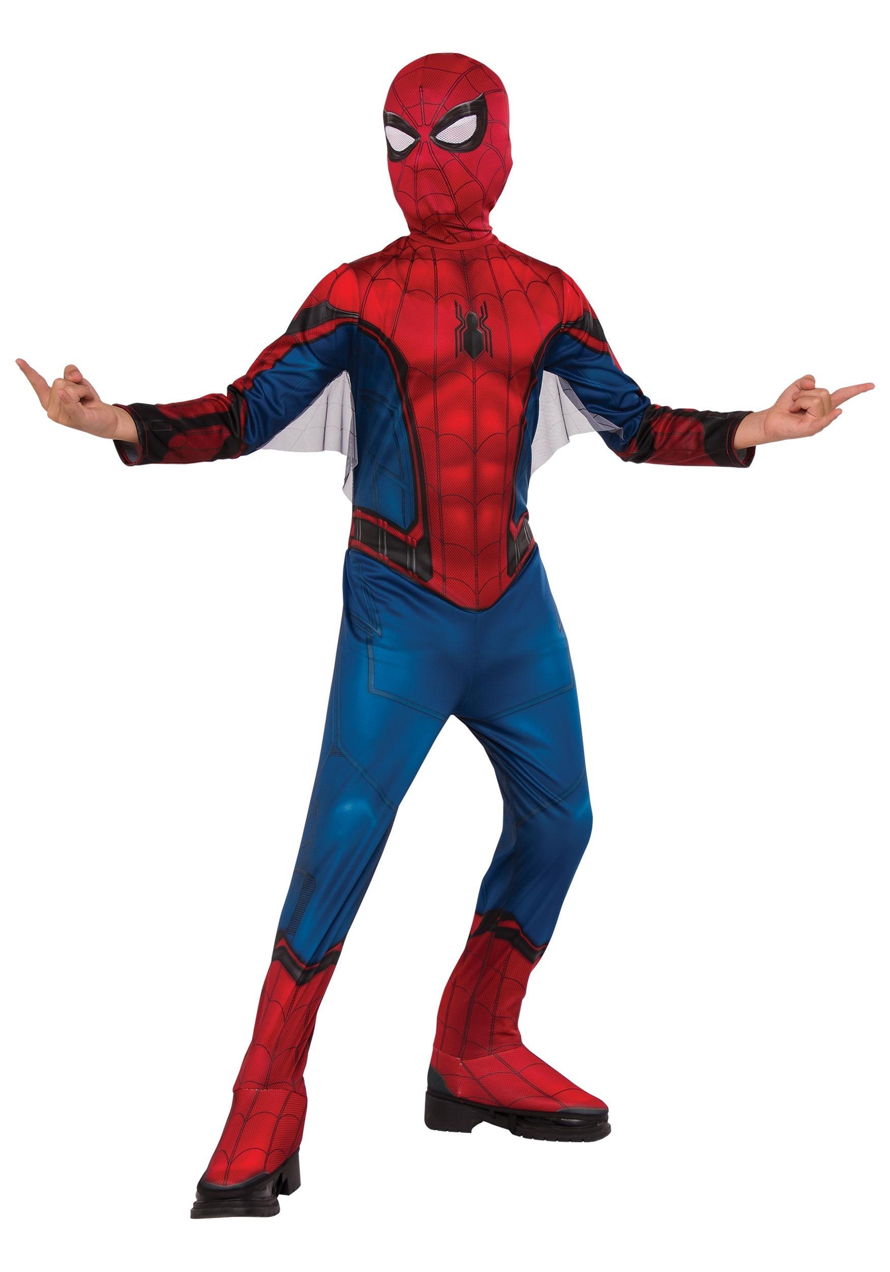 Classic Spiderman Costume  sc 1 st  Halloween Costumes UK & Boys Superhero Costumes - Kids Toddler Baby Superhero Costumes