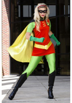 DC Womenu0027s Robin Costume & Female Superhero Costumes - Womenu0027s Halloween Superhero Costumes