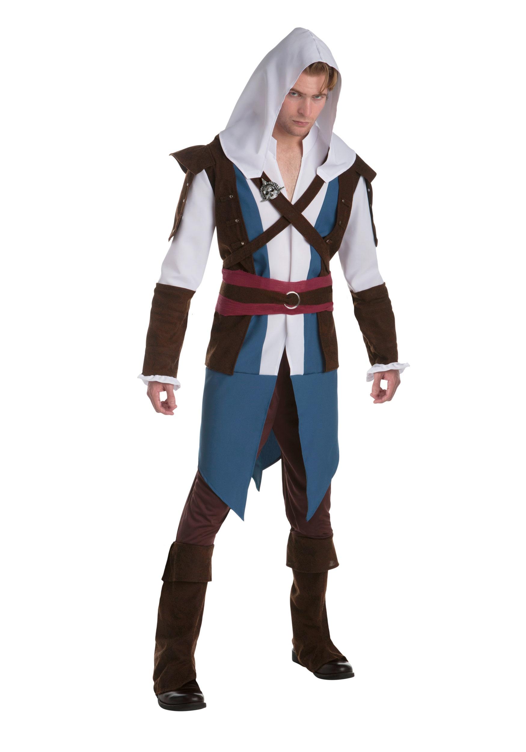 Assassins Creed Edward Kenway Fancy Dress Costume for Men