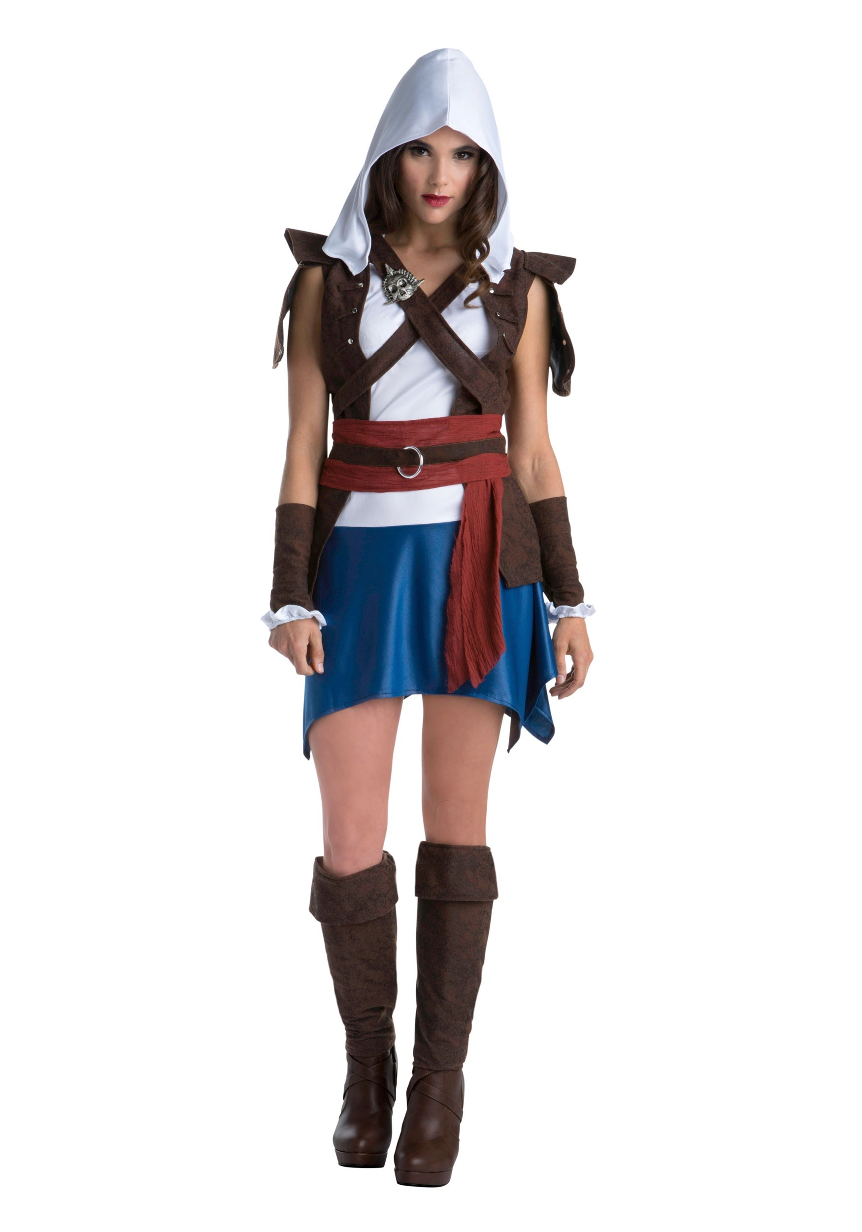 INOpets.com Anything for Pets Parents & Their Pets Assassins Creed Edward Kenway Classic Fancy Dress Costume for Women