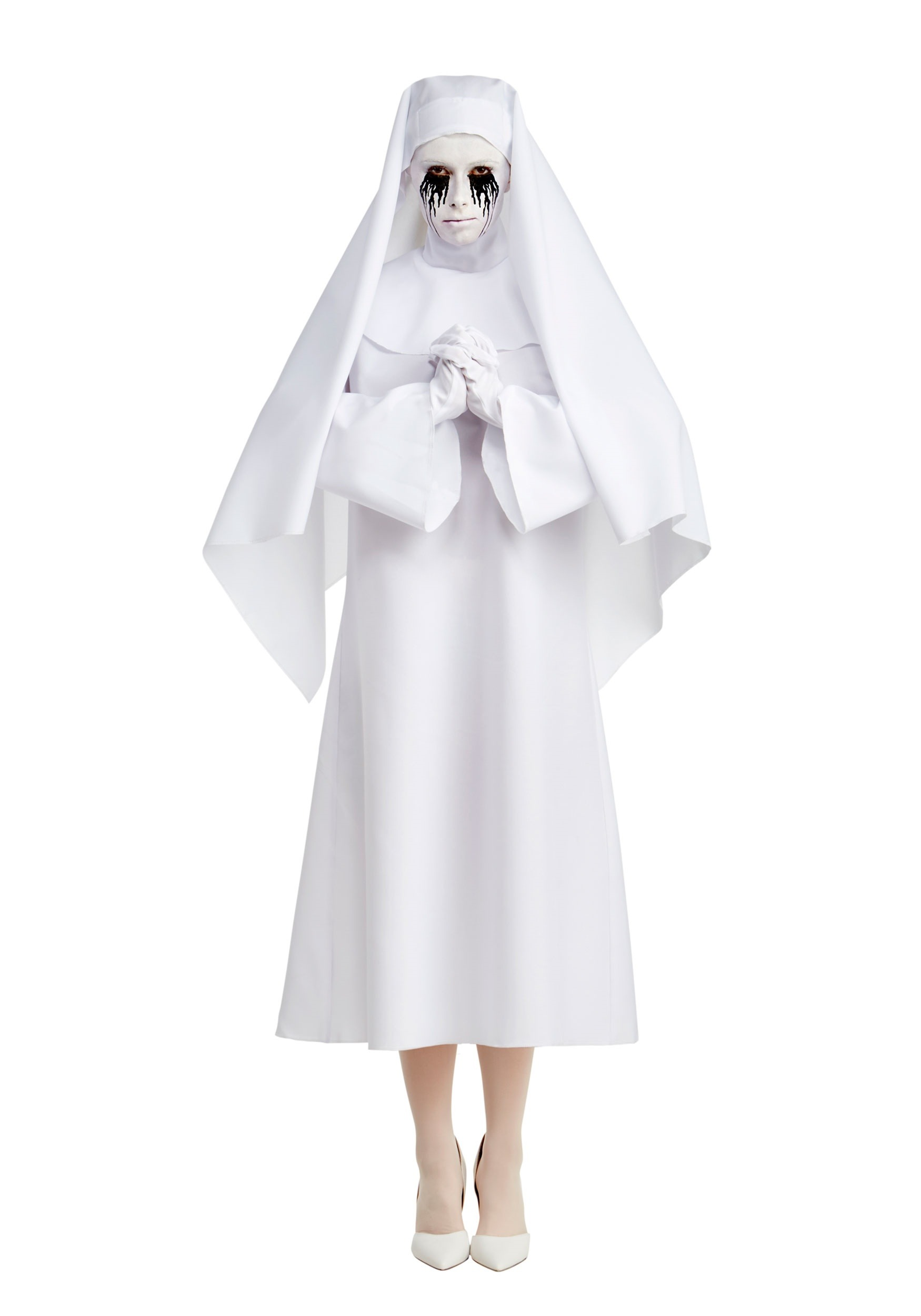 American Horror Story The White Nun Deluxe Womens Costume  sc 1 st  Halloween Costumes UK & American Horror Story The White Nun Deluxe Costume for Women