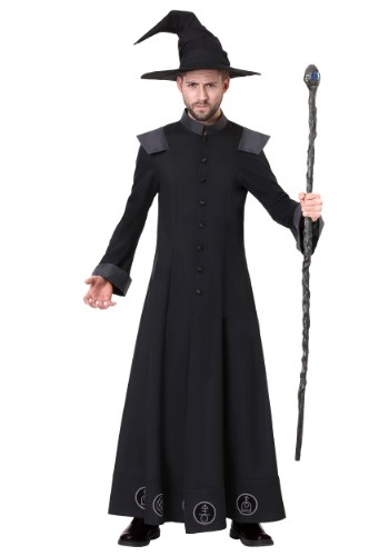 Men's Plus Warlock Costume